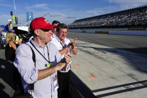 Members of Chip Ganassi racing team cheer on Sage Karam moments before his crash in turn one at Pocono Raceway. Sage Karam injured in a crash on August 23rd, 2015, at Pocono Raceway in Long Pond. (Chris Post | lehighvalleylive.com)
