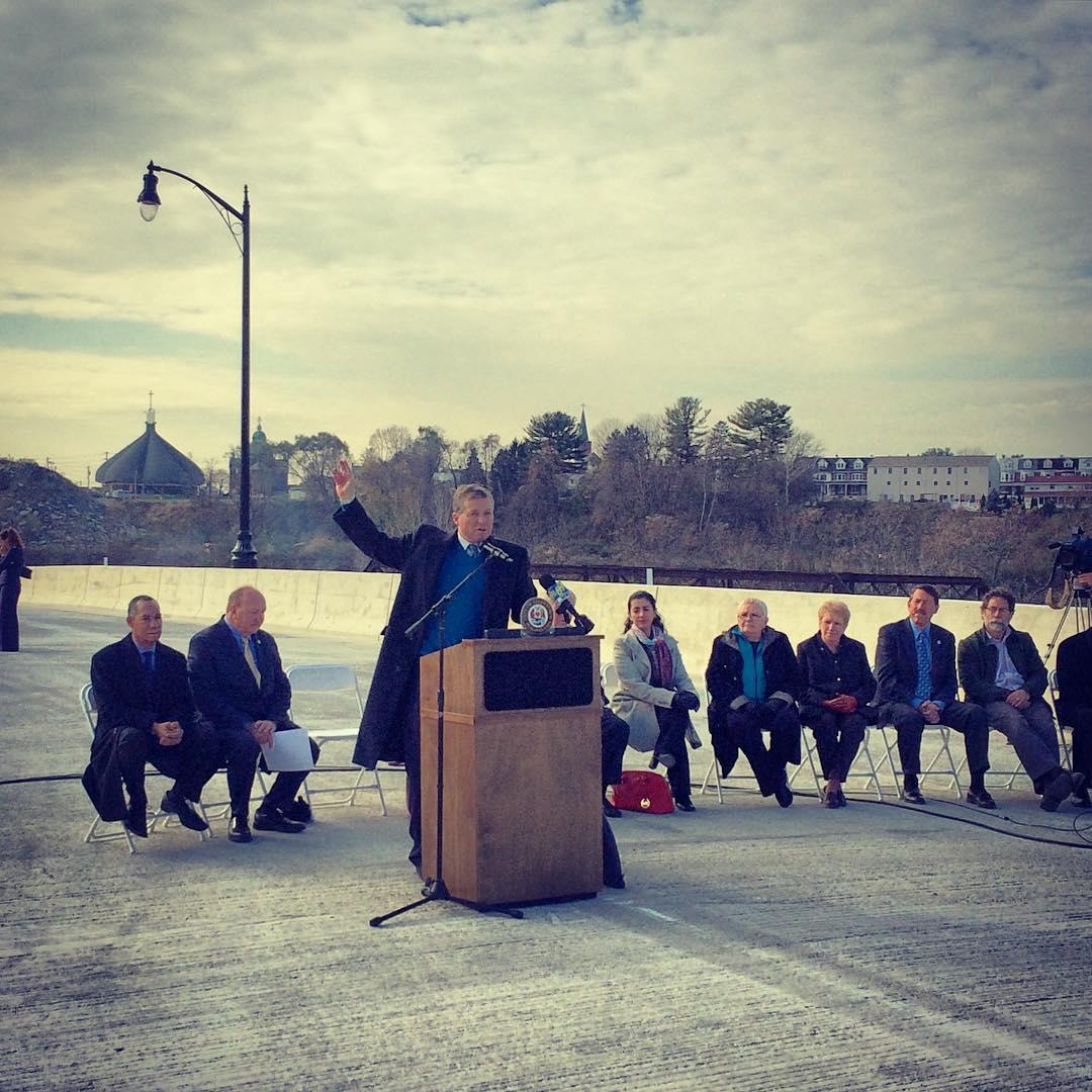 Charlie Dent opens the American Parkway Bridge in Allentown