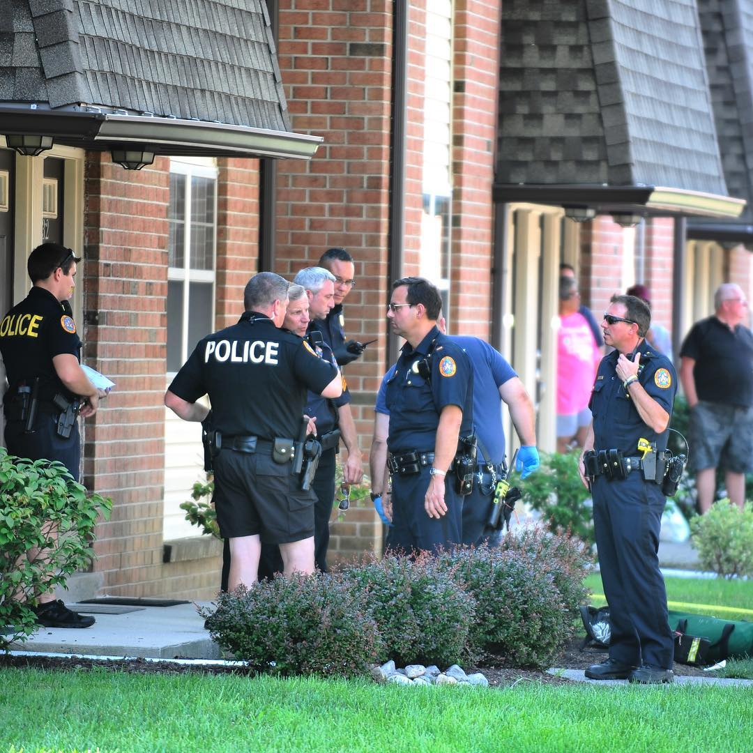 Police investigate a scene where a stabbing occurred in Bethlehem leaving one person dead.
