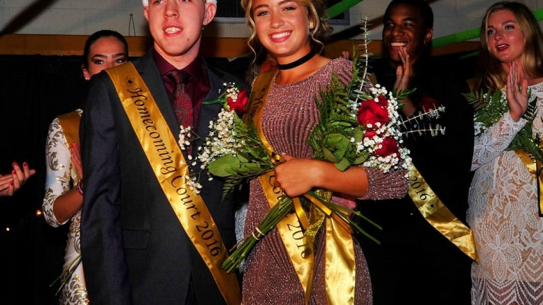 Adam Recke and Shalyn Banas, Freedom High School's homecoming king and queen.