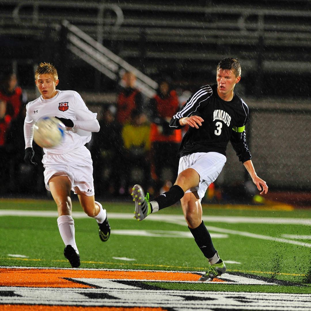 Under downpours of heavy rain the Northampton boys soccer team hosted Emmaus on Oct. 27, 2016, at Al Erdosky Stadium at Northampton Area High School.