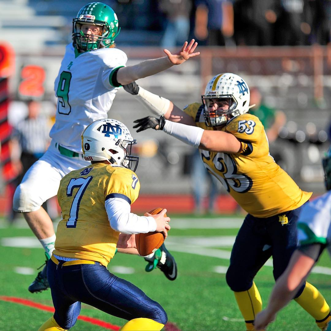 Notre Dame plays against Pen Argyl for the PIAA District 11 3A football finals at BASD stadium in Bethlehem, Pa.