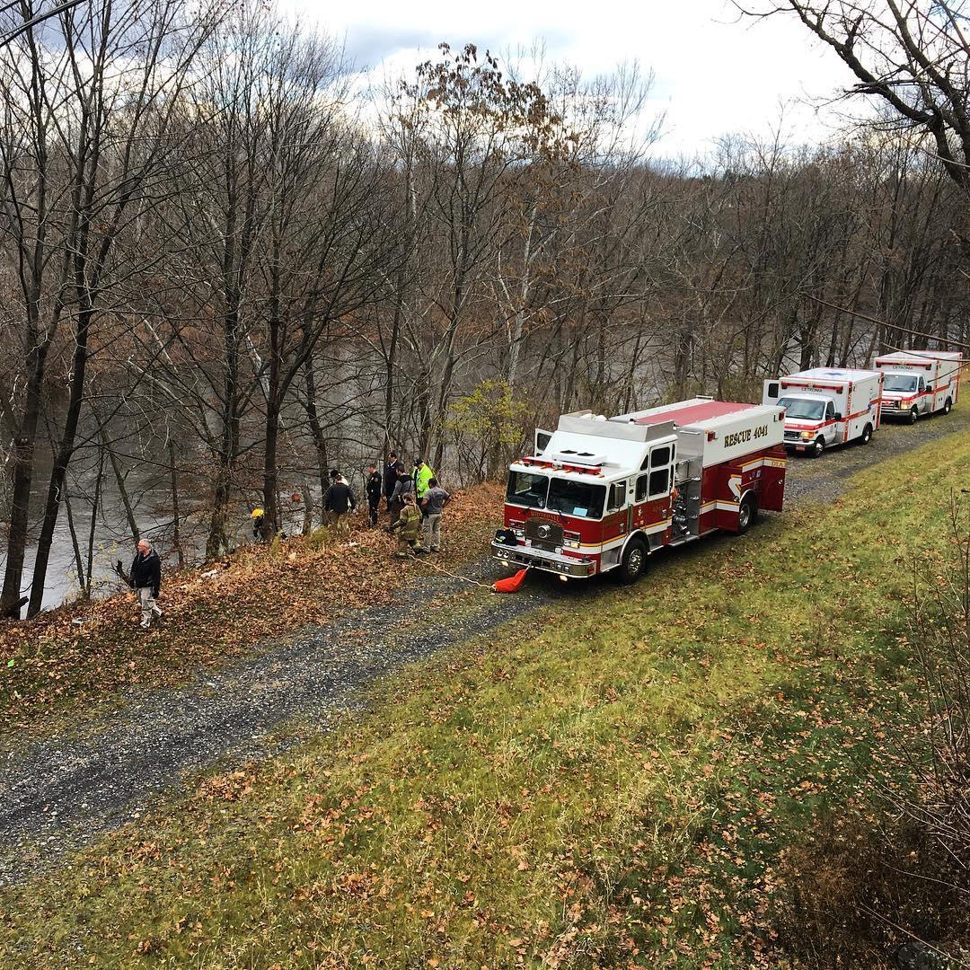 On Scene: man jumps from Race Street bridge, rescue underway!