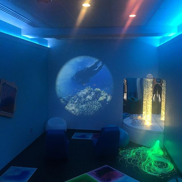 Sensory Room for individuals who may be experiencing sensory overload when traveling.