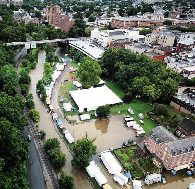 Minor flooding strikes @Musikfest yet again!