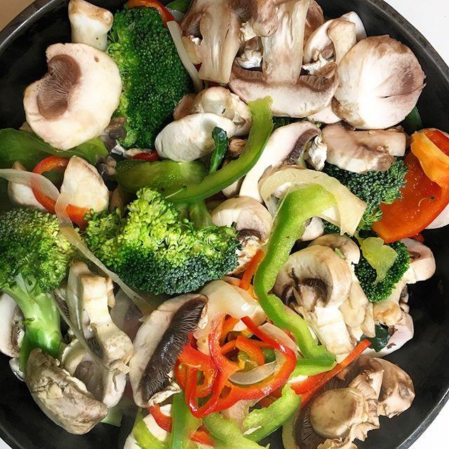 Colorful Dinner, Stir-fry.