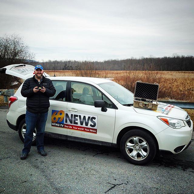 Drone Journalism Selfie