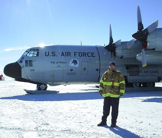 Happy International Firefighters Day! Me, a long time ago, Fire Captain in Antarctica.