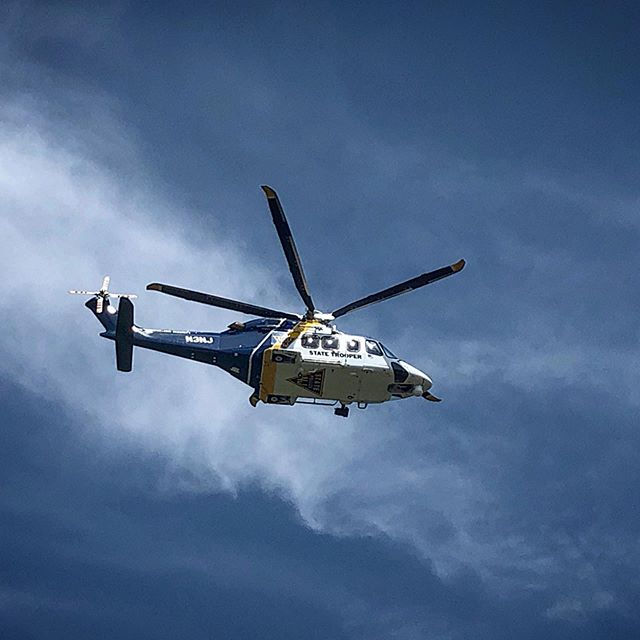 @newjerseystatepolice Helicopter participates in the Active Shooter response drill at Phillipsburg High School
