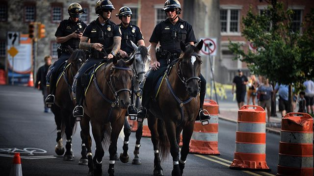 @bethlehem_police_department Mounted patrolling at @musikfest